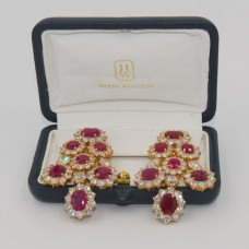 Harry Winston Burma Ruby Earrings
