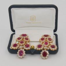 Harry Winston Burma Ruby Earrings