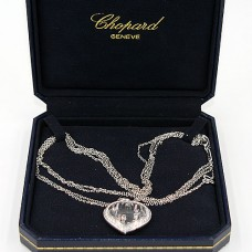 Chopard White Gold Happy Diamond Necklace