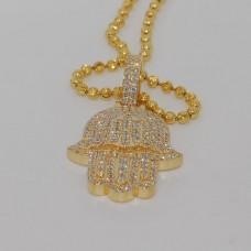 18kt Diamond Hand Pendant