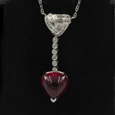 Vintage Rubellite Pendant Necklace