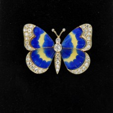 18kt Platinum Diamond Butterfly Pin