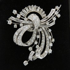 Platinum Art Deco Diamond Pin