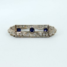 Platinum Art Deco Sapphire French Pin