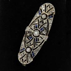 Victorian Sapphire Diamond Pin