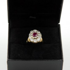 Burma Ruby Diamond Ring