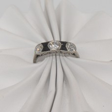 Platinum Art Deco Onyx Ring